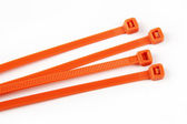 Cable ties in orange — Stock Photo