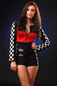 Meisje in een race-pak — Stockfoto