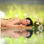 Portrait of a girl in a spa — Stock Photo