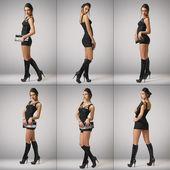 Fashionable girl in the studio — Stock Photo
