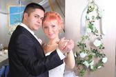 Happy couple in the dance — Stock Photo