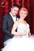 Happy newlyweds — Stock Photo