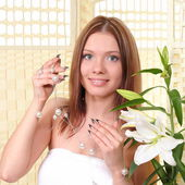 Portrait of a young pretty girl — Stock Photo