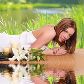 Spa Woman. Beauty portrait. — Stock Photo