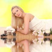 Femme de spa. portrait de la beauté. — Photo