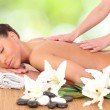Beautiful womenjoying massage therapy — Stock Photo #40622617