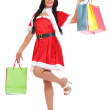 Christmas, gift. Happy woman with shopping bags. — Stock Photo #40815115