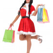Christmas, gift. Happy woman with shopping bags. — Stock Photo #40815229
