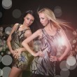 Two young babes on disco — Stock Photo #40827519