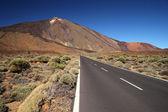 Valley of volcano Teide, Tenerife, Spain — Stock Photo