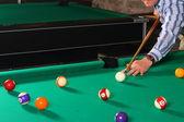 台球桌的球 — 图库照片
