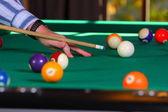 Mesa de billar con bolas — Foto de Stock