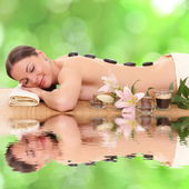 Attractive woman getting spa treatment — Stock Photo