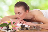 Young girl in spa salon — Stock Photo