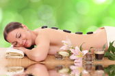 Beautiful spa woman lying  — Foto Stock