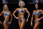 Escena del concurso mujer fitness — Foto de Stock