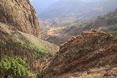 Mountain landscape of the island of La Gomera. Canary Islands. Spain — Stock Photo