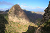 Mountain landscape of the island of La Gomera. Canary Islands. Spain — Stock Photo