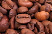 Roasted coffee beans,  background — Stock Photo