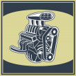 Engine — Stock Vector