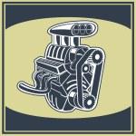 Engine — Stock Vector