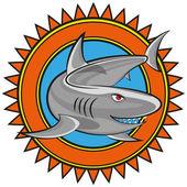 Vector shark — Stock Vector