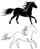 Vektorové kůň — Stock vektor