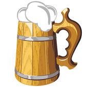 Beer mug with beer — Stock Vector
