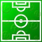 Fundo de bola de futebol — Vetor de Stock
