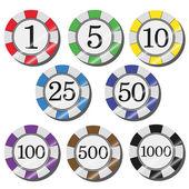 Żetony kasyna — Wektor stockowy