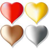 набор сердца — Cтоковый вектор