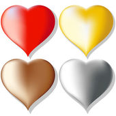 Hearts set — Stock Vector