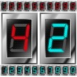 Set of electronic digits — Stock Vector