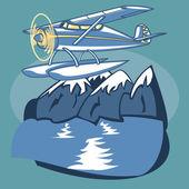 Wasserflugzeug — Stockvektor