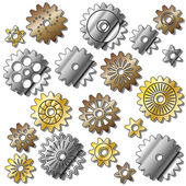 The gears — Stock Vector