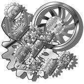 The gears — Stockvector