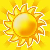 Vector sun — Stock Vector
