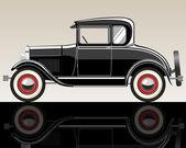 Retro car. — Stock Vector