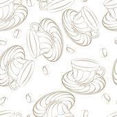 Coffee pattern — Stock Vector