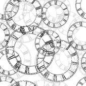 Vector vintage clock — Stock Vector