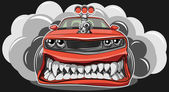 Angry car — Stock Vector