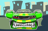 Angry car — Vector de stock