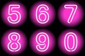 Neon digits — Stock Vector