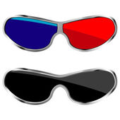 Anaglyph glasses — Stock Vector