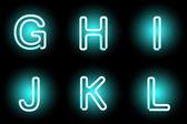 Neon písmeny — Stock vektor