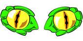 Snake eyes-vektor-illustration - in farbe — Stockvektor