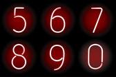 Números de neón. vector. — Vector de stock