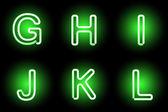 Alfabeto de neón — Vector de stock
