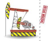 Oil pump — Stock Vector
