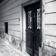 Historical wooden door — Stock Photo